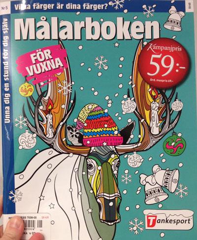 målarbok för vuxna julmotiv